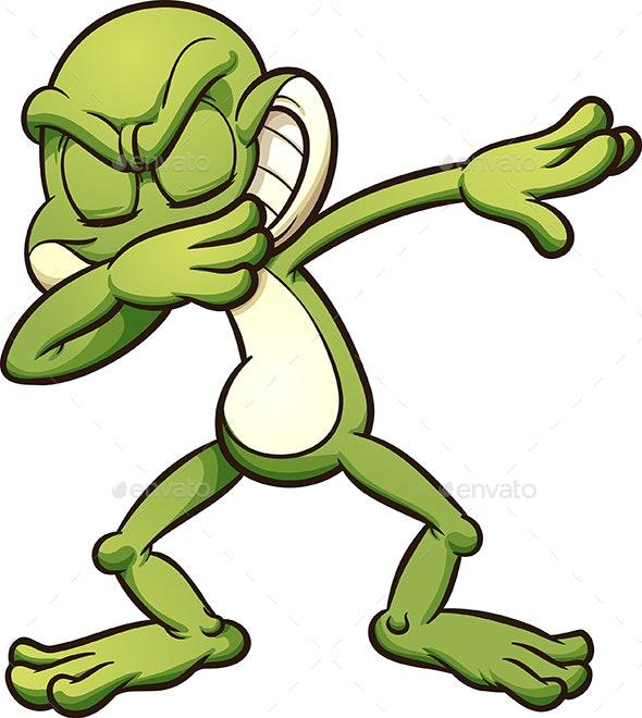 Dabbing Frog - Animals Characters