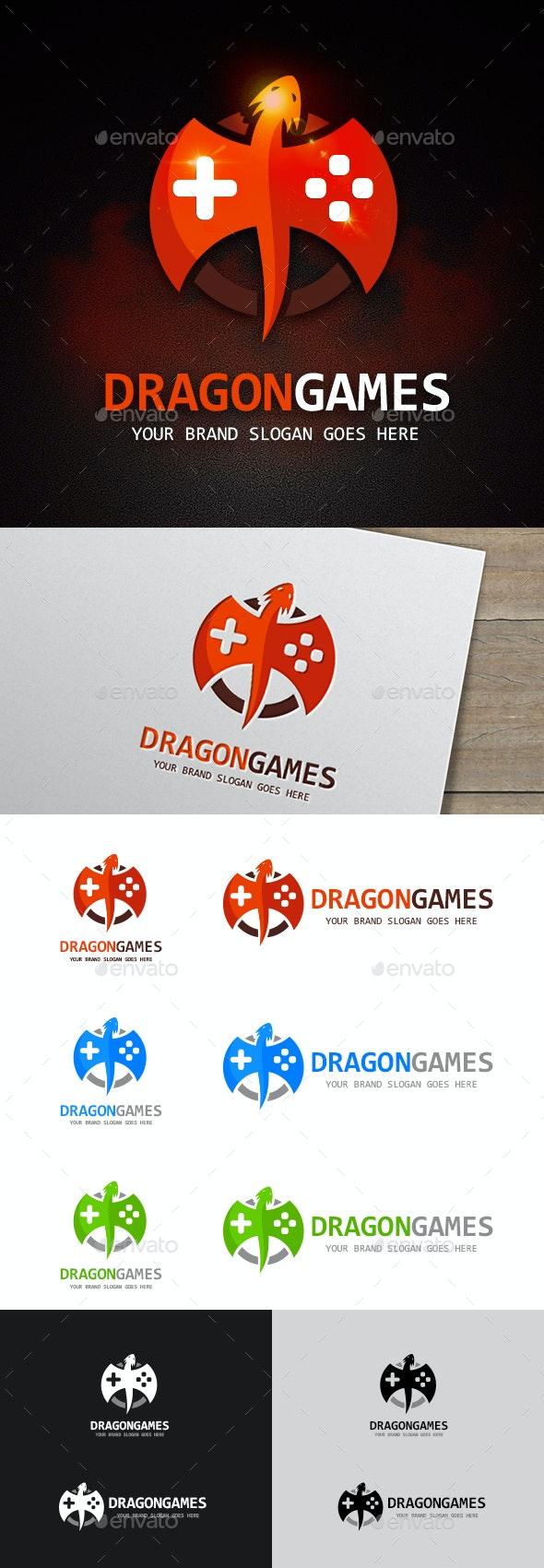 Dragon Games Logo Template - Symbols Logo Templates