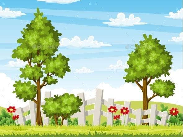 Summer Landscape - Flowers & Plants Nature