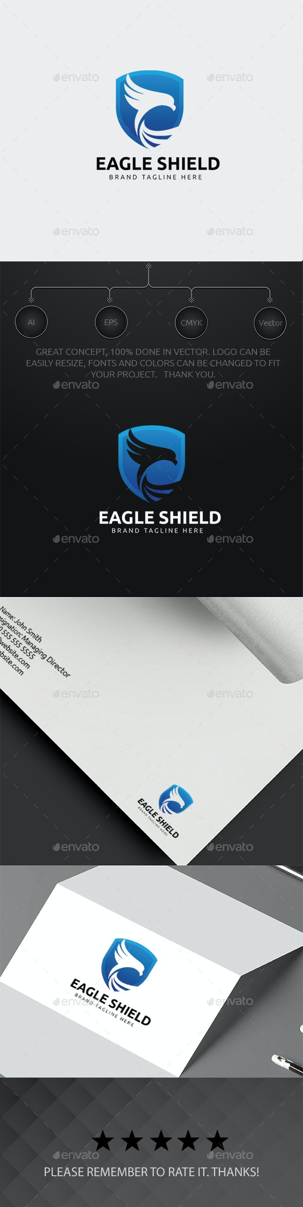 Eagle Shield Logo - Animals Logo Templates