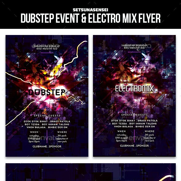 Dubstep Event & Electro Mix Flyer