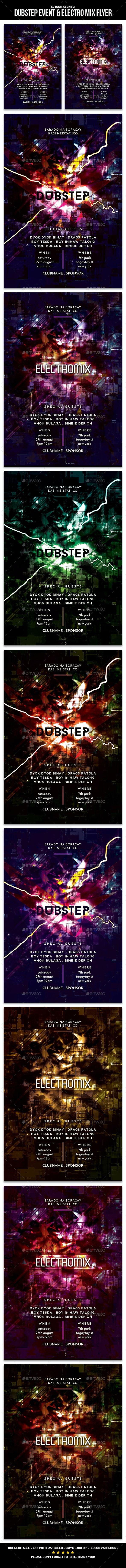 Dubstep Event & Electro Mix Flyer - Events Flyers