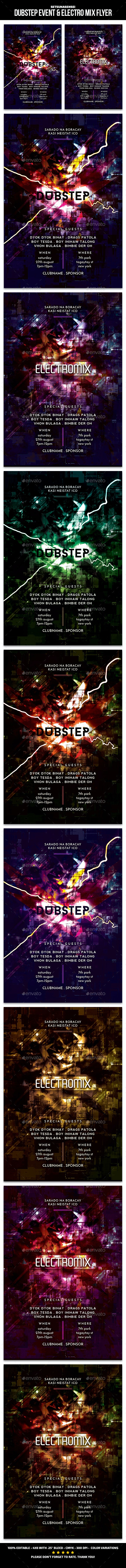 Dubstep Event & Electro Mix Flyer - Events Flyers