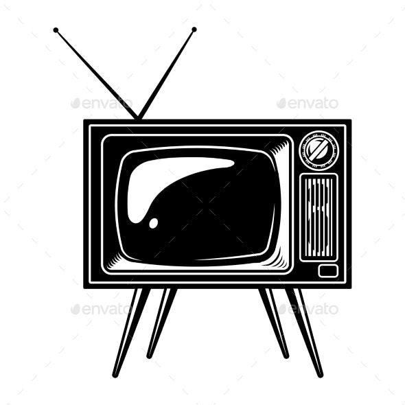Retro TV Set Concept - Miscellaneous Vectors