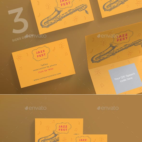 Jazz Festival Business Card