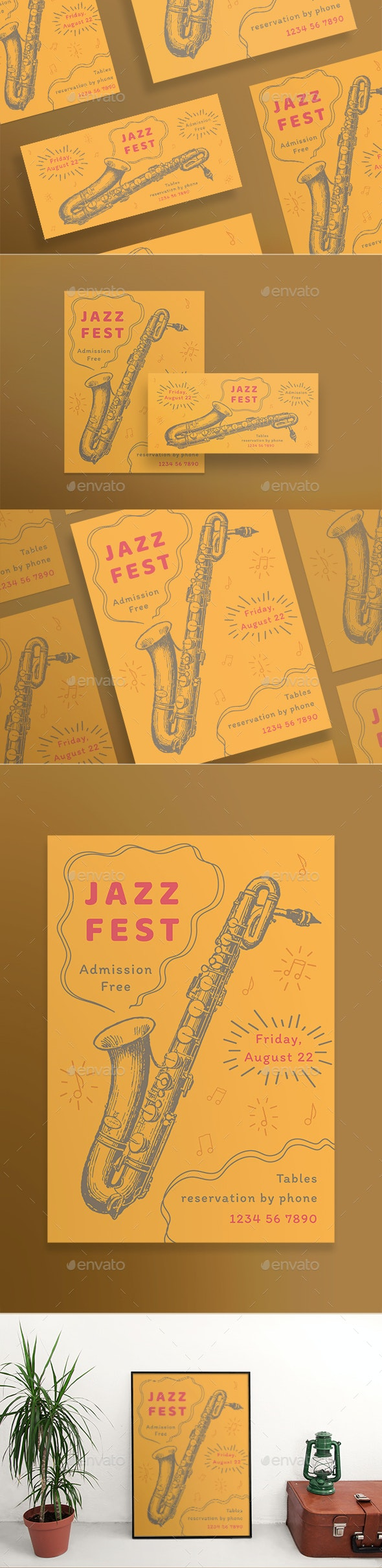 Jazz Festival Flyers - Concerts Events