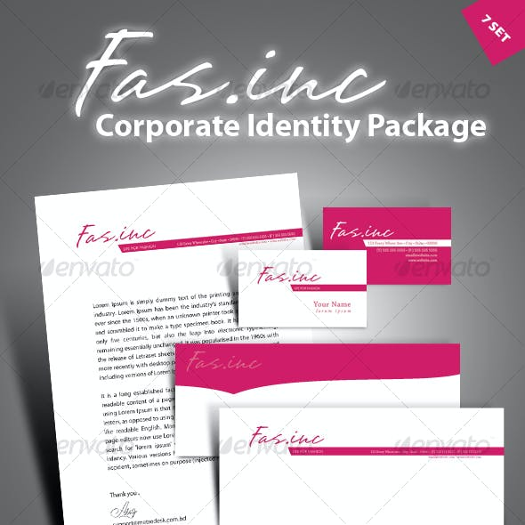 High quality print ready corporate identity 7-pack