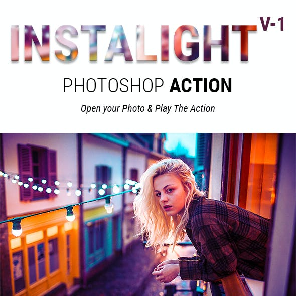 Instalight Photoshop Action - Special Lighting Effects for Instagram Photos