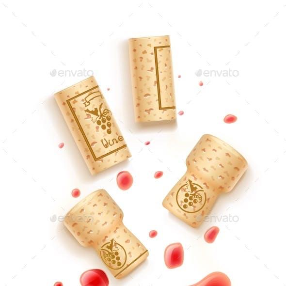 Wine Bottle Cork and Beverage Drops