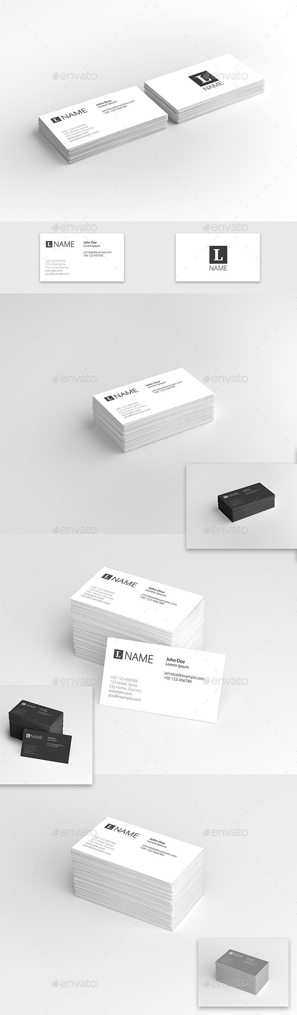 Business Card Presentation Template - Business Cards Print