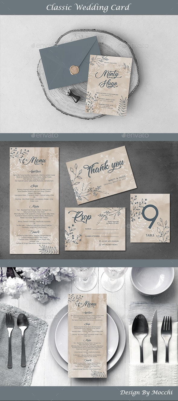 Classic Wedding Card - Wedding Greeting Cards