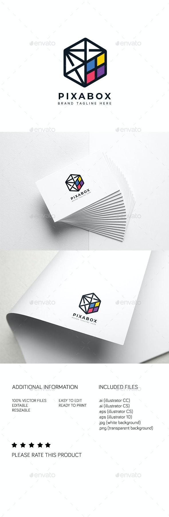Pixabox Logo - Abstract Logo Templates
