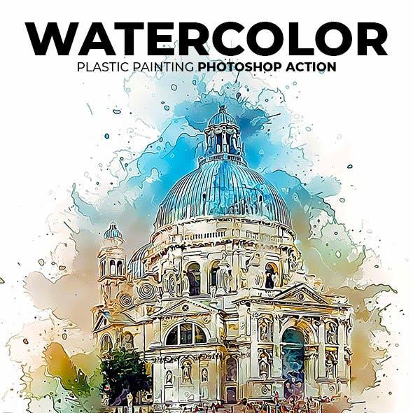 Watercolor Plastic Painting Photoshop Action