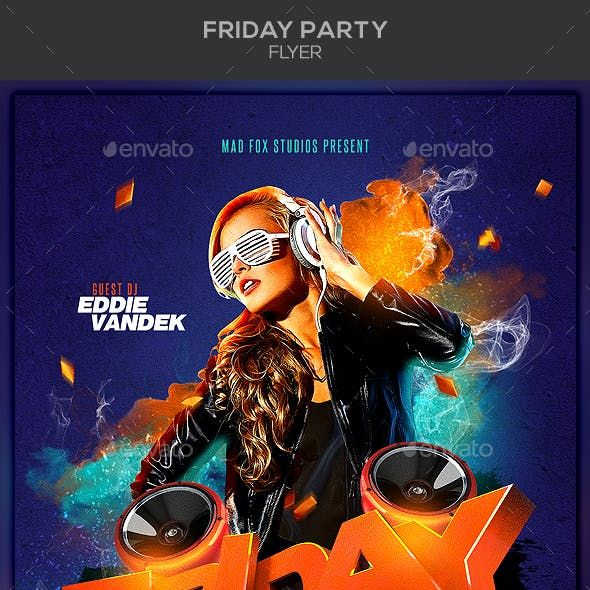 Friday Party Flyer