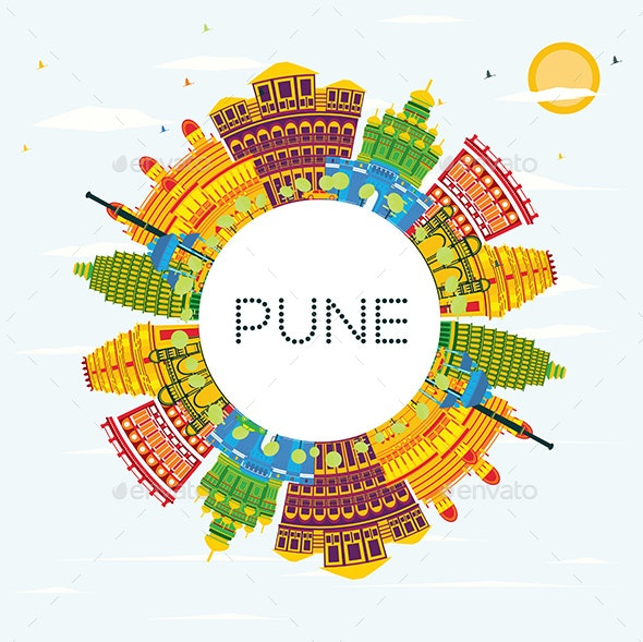 Pune India Skyline - Buildings Objects
