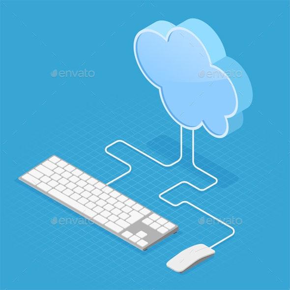 Cloud Computing Technology Isometric - Web Technology