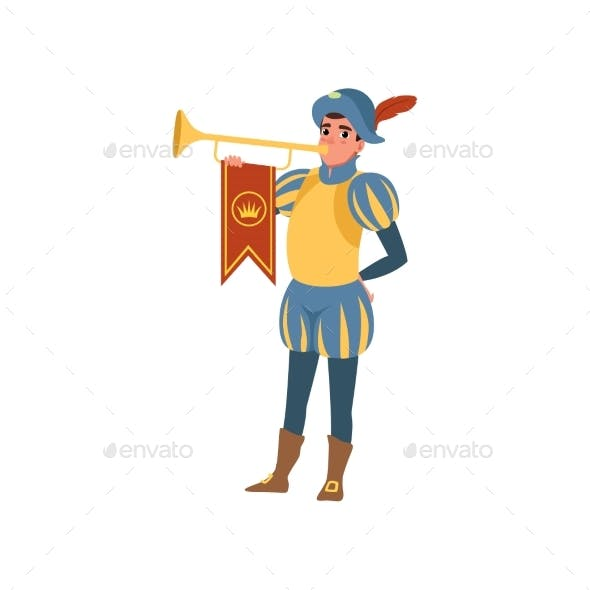 Royal Herald with Trumpet European Medieval