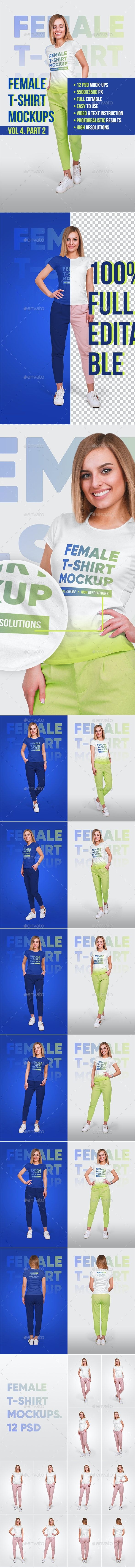 Female T-Shirt Mockups Vol4. Part 2 - T-shirts Apparel