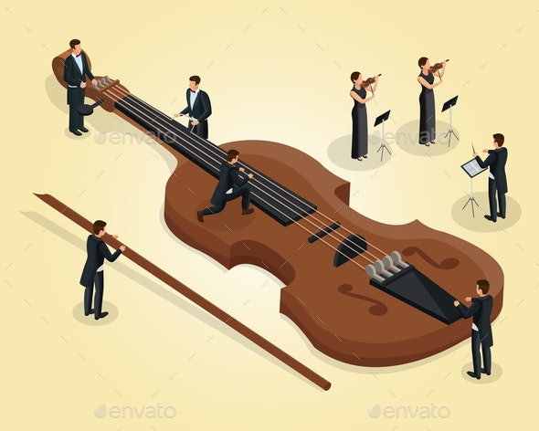 Isometric Orchestra Template - People Characters