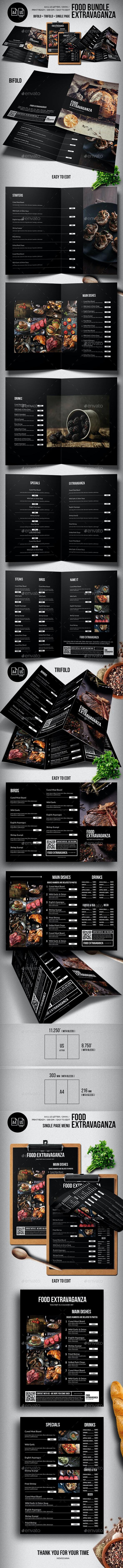 Multipurpose Extravaganza Food Menu Big Bundle - Food Menus Print Templates