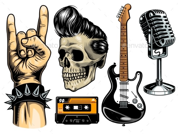 Set of Rock and Roll - Miscellaneous Vectors