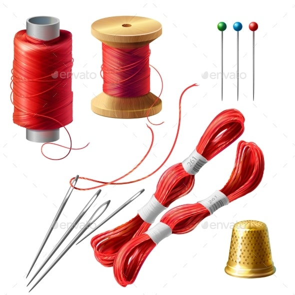 Vector Tailor Set for Sewing - Man-made Objects Objects