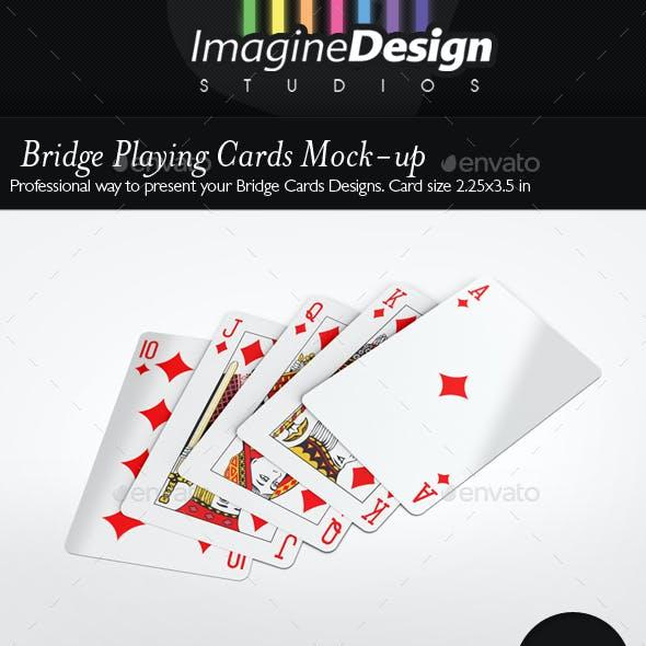 Bridge Playing Cards Mock-up