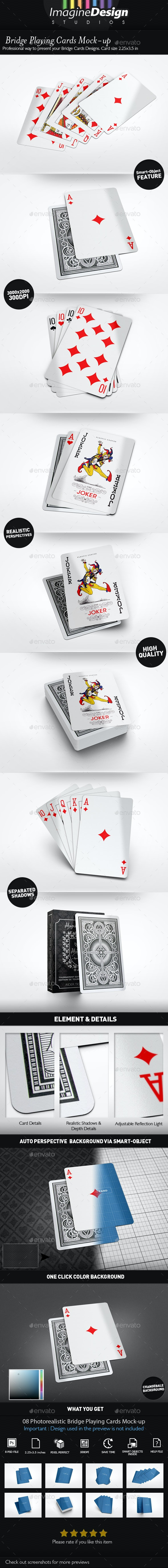 Bridge Playing Cards Mock-up - Miscellaneous Print