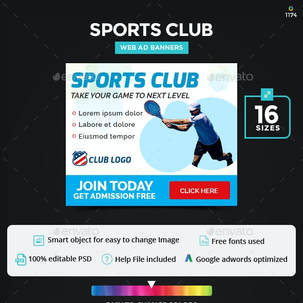 Sports Club Banners - Updated!