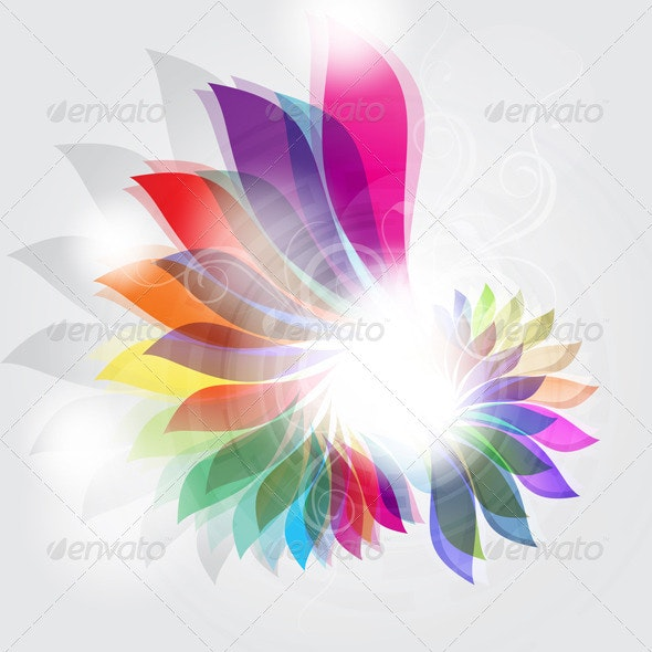 Abstract floral design - Backgrounds Decorative