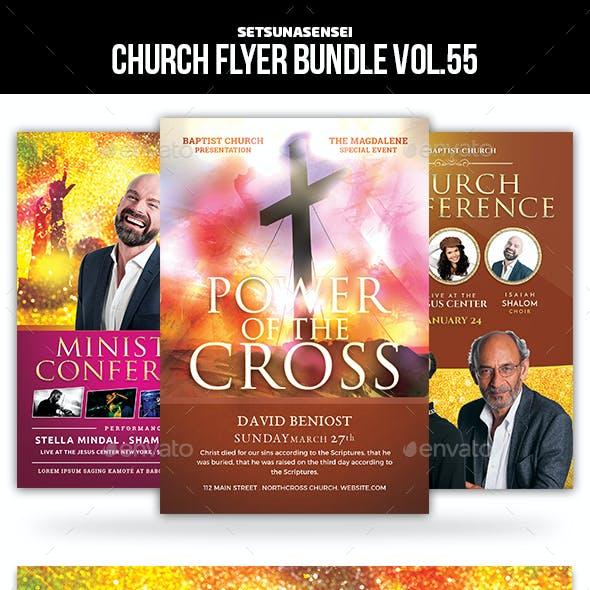 Church Flyer Bundle Vol. 55
