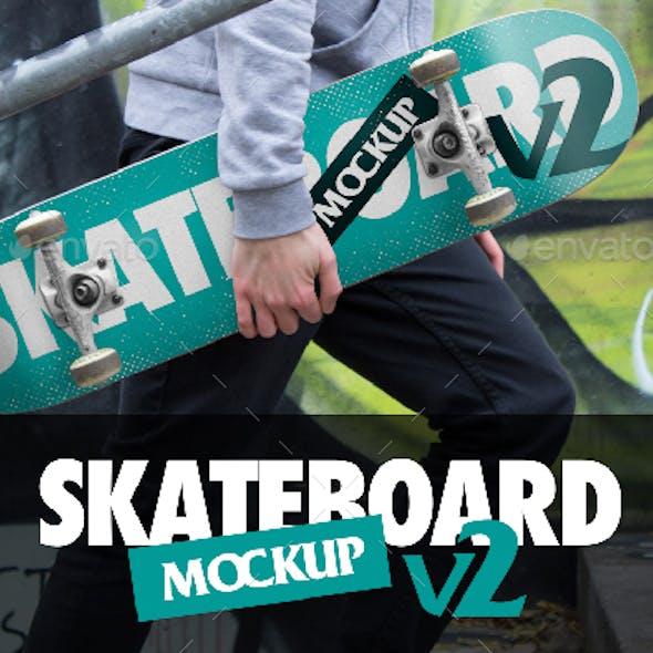 Skateboard Mockup V2 - PSD