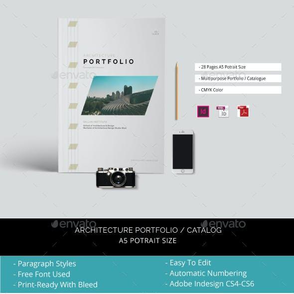A5 Architecture Portfolio / Catalogue