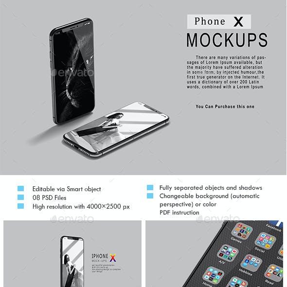 Phone X Mock-Ups