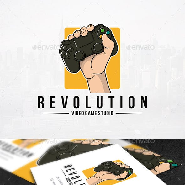 Revolution Games Logo Template