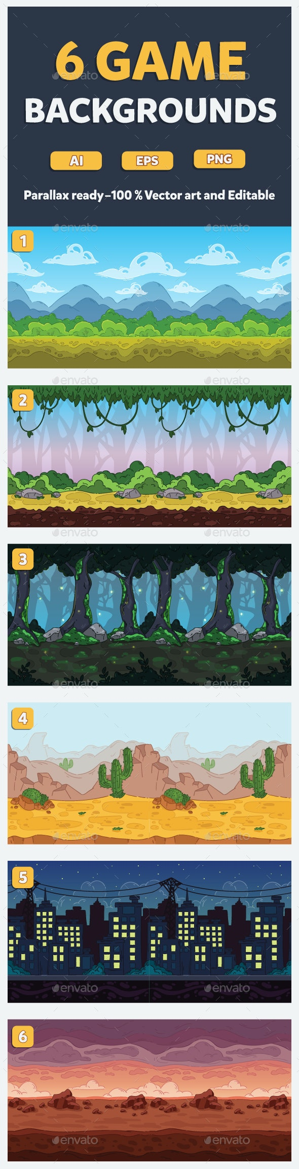 Game Backgrounds - Backgrounds Game Assets