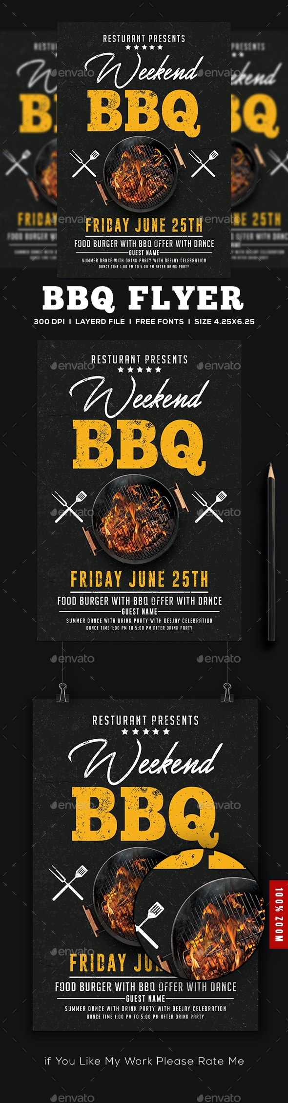 BBQ Flyer - Events Flyers
