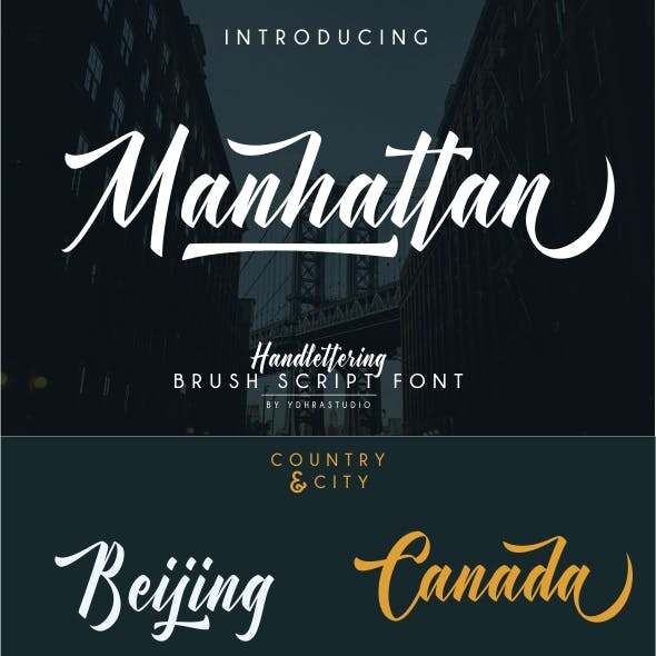 Manhattan Font + Bonus Swash