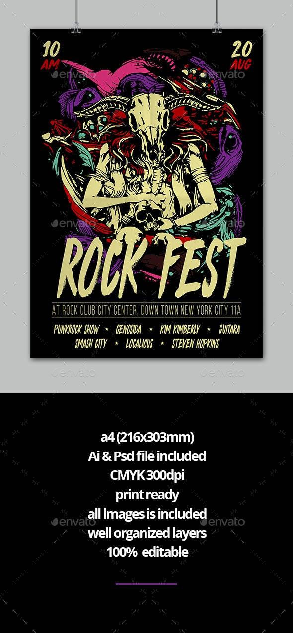 Rock Music Flyer - Flyers Print Templates