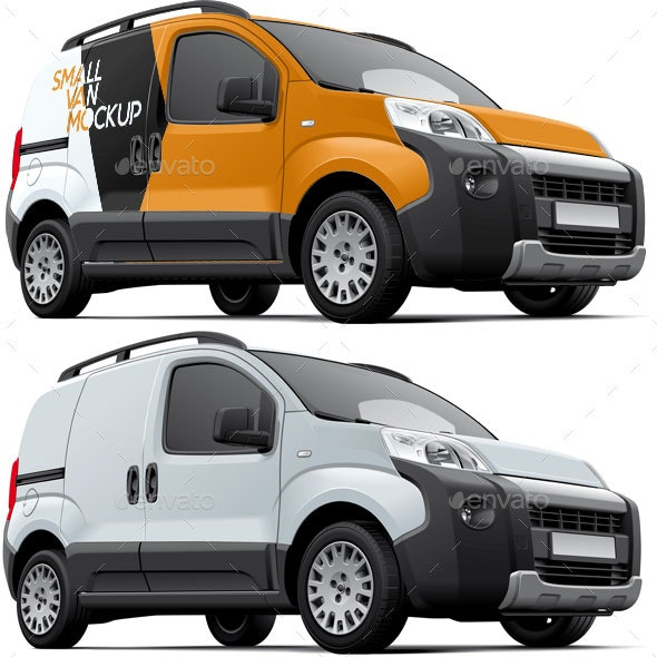 Small Commercial Vehicle Mockup - Vehicle Wraps Print