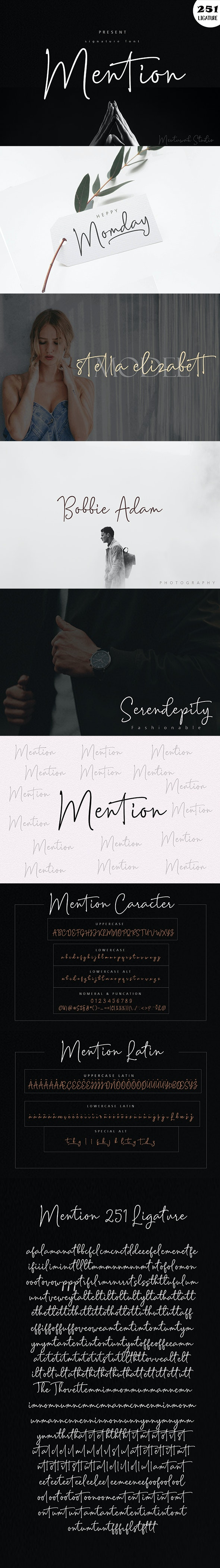 Mention Signature And 251 Ligature - Hand-writing Script