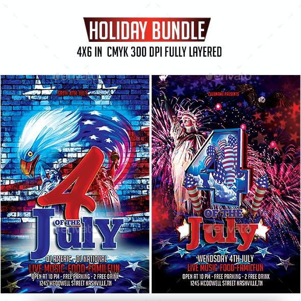 4th Of July Flyer Bundle