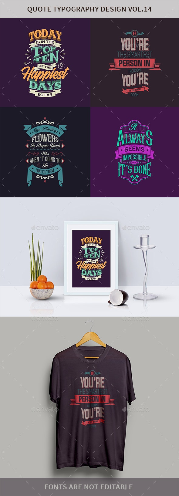 Typography Badges And Labels Vol.14 - Badges & Stickers Web Elements