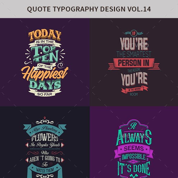 Typography Badges And Labels Vol.14