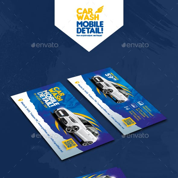 Car Wash Business Card Templates