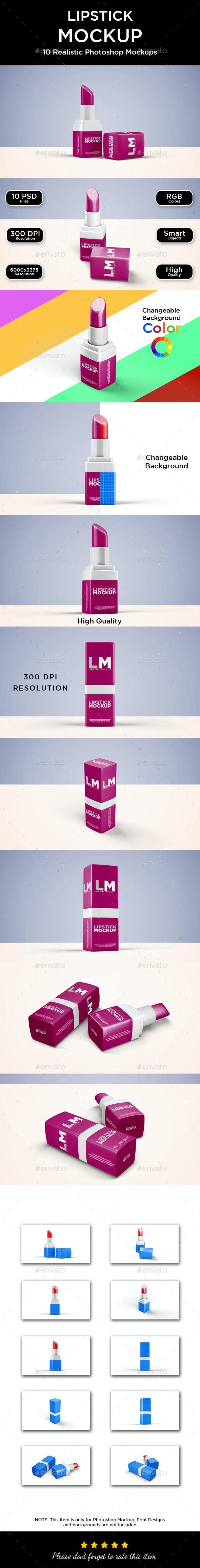 Lipstick Mockup - Beauty Packaging