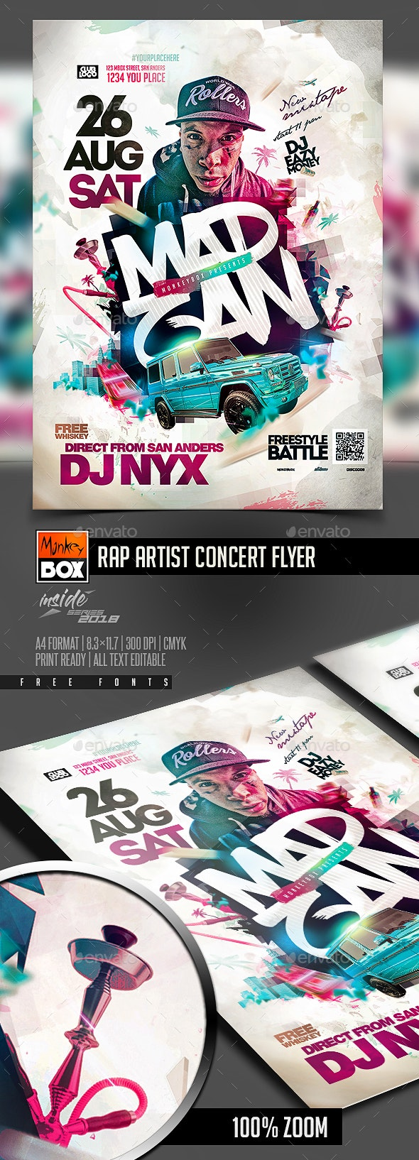Rap Artist Concert Flyer - Flyers Print Templates