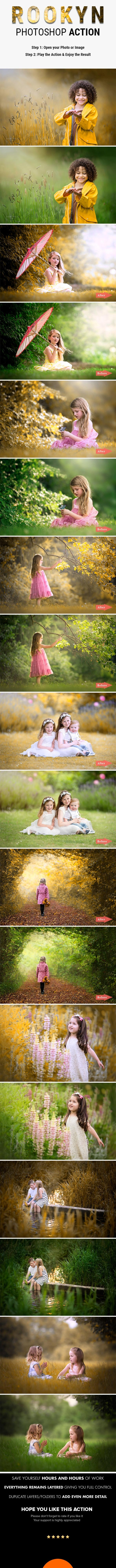 Rookyn Photoshop Action - Transform your Photo & give a Special Romantic Autumn Effects - Photo Effects Actions