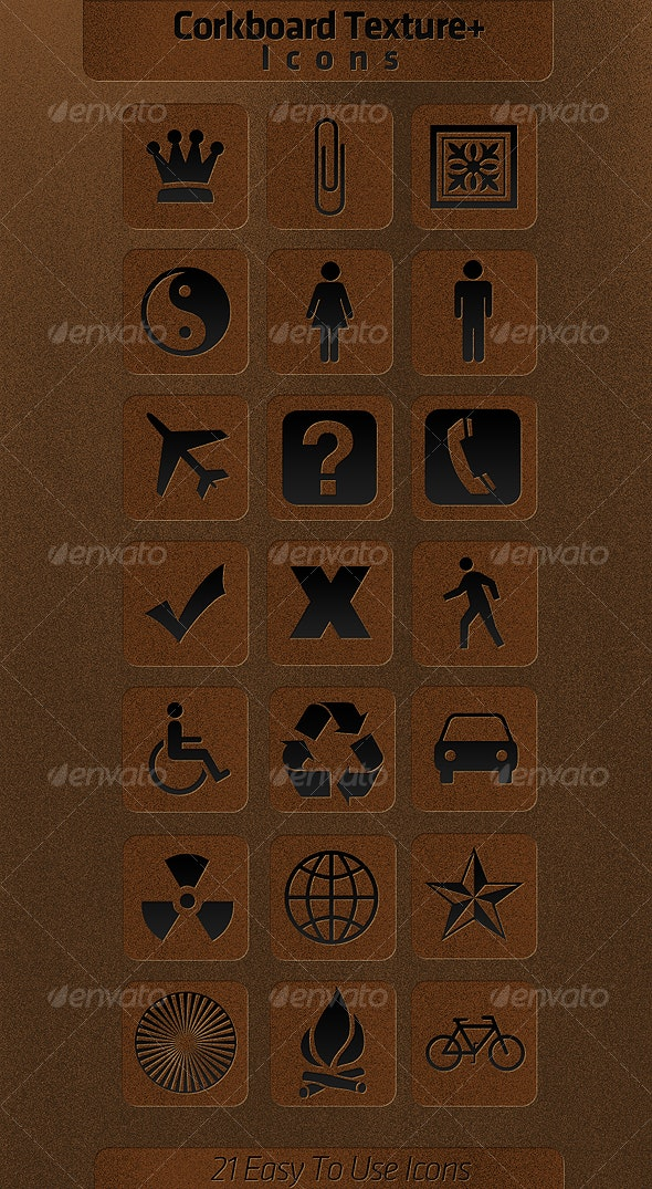 Corkboard Icons + Texture - Web Icons