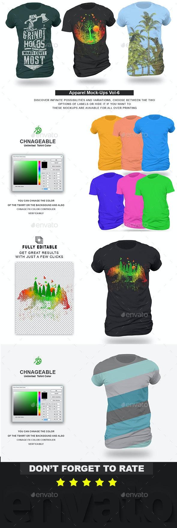 Apparel Mockup Vol 6 - T-shirts Apparel